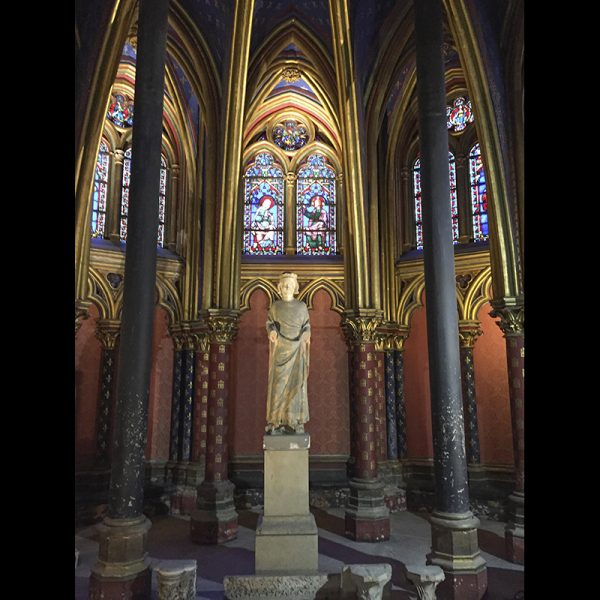 Statue of St. Louis, founder of Sainte Chapelle