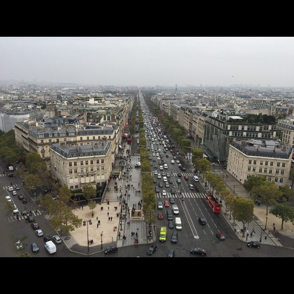 View from the Arc de Triomph