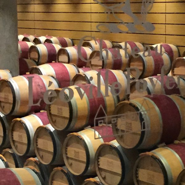 Barrel room at the Leoville Poyferre winery