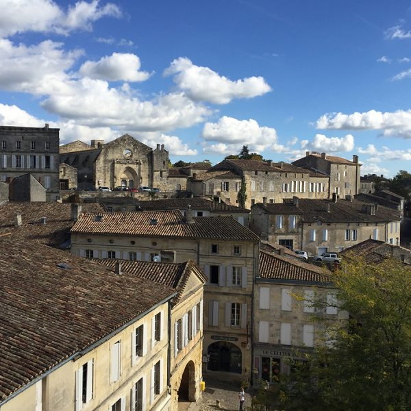View of the village of St. Emilion