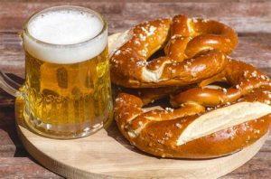 Great German beer and pretzels