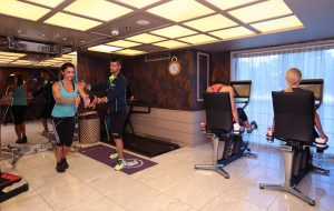 Every ship is equipped with a fitness room that is open 24/7.