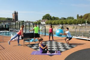No need to forego your exercise program-just meet on the Sun deck
