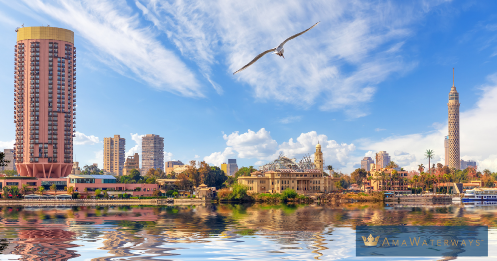 Cairo Skyline on your luxury nile river cruise